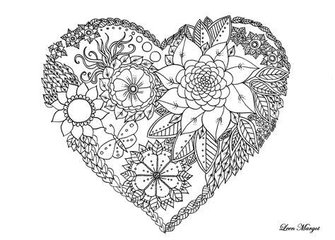 Coloriage De Coeur Saint Valentin Par Leen Margot Dessin De Mandala Coeur L