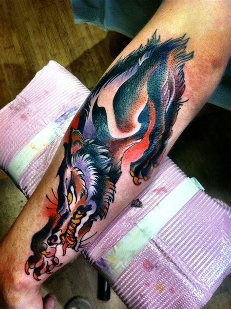old school wolf tattoo design school wolf ideas yo