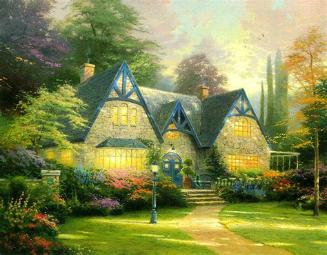 kinkade cottage painting kinkade redtree times