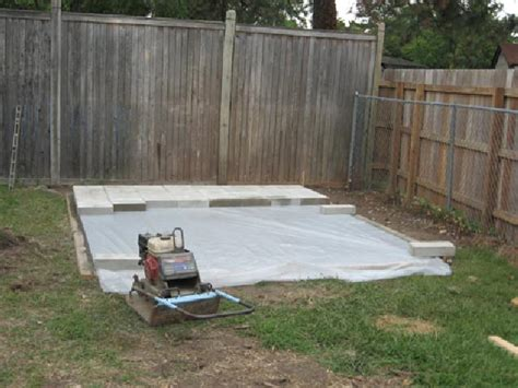 How To Lay Base For Shed by Installing A Vinyl Shed