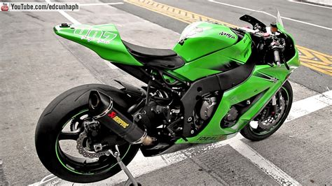 Mozaik Foto 10r 10 kawasaki zx 10r with akrapovic exhaust sound revs overview and onboard aic curitiba