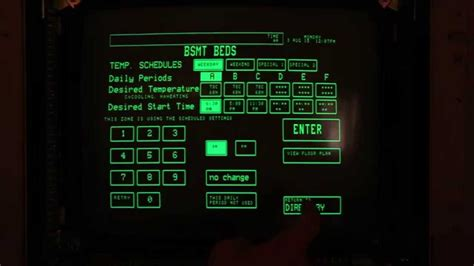 tour of 1985 home automation system with touchscreen