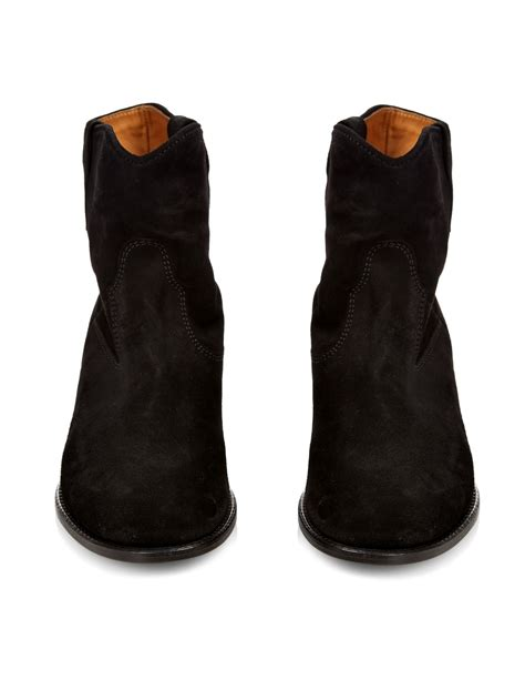 marant crisi suede ankle boots in black lyst