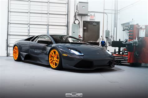 stunning lamborghini murcielago lp640 on orange pur wheels