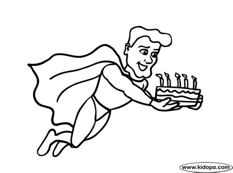 superman birthday coloring pages birthday superhero coloring page