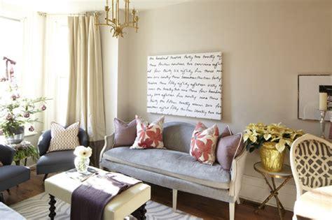 gray velvet settee contemporary living room meredith heron design