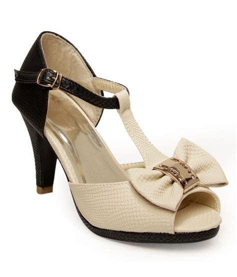 Heels Import Apricot Black fnb nell apricot black bow pencil heel sandals price in india buy fnb nell apricot black