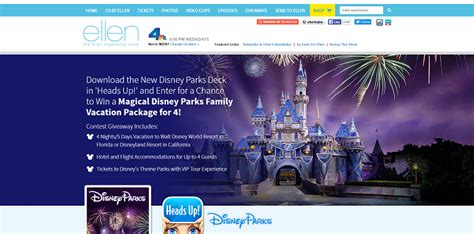 Family Vacation Giveaways - ellen s win a magical theme parks family vacation package giveaway