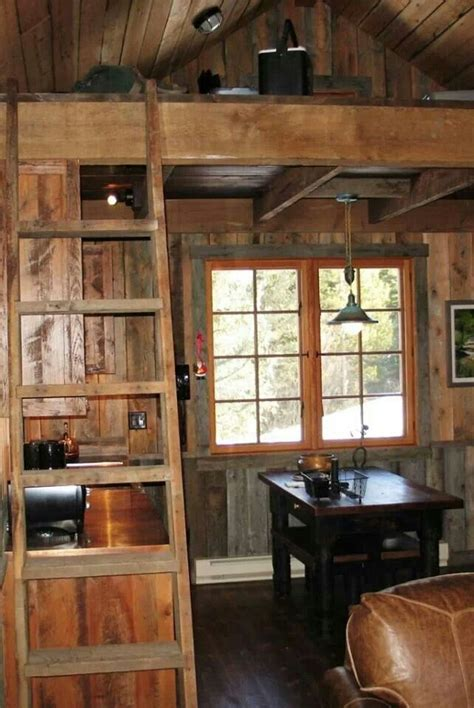 Cabin Interiors by Small Cabin Interior Kitchen And Dining Room Small Houses Small Cabins Ladder