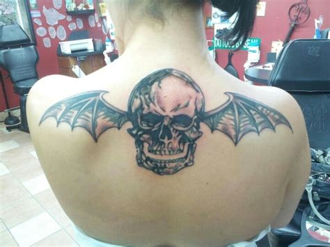 deathbat tattoo my deathbat dedicated to avenged sevenfold a7x