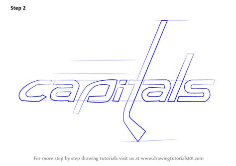 capitals hockey coloring pages learn how to draw washington capitals logo nhl step by