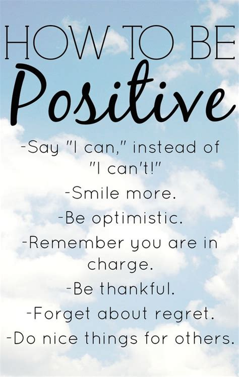 inspiring positive thoughts   positive day