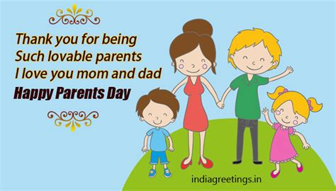 parents day wishes greeting cards