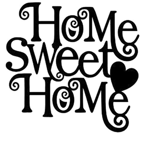Sticker Sweet Home Aufkleber by Home Sweet Home Die Cut Vinyl Decal Pv1004 Car Truck