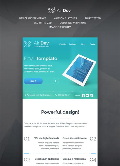 buy email templates airdev email template buy premium airdev email template