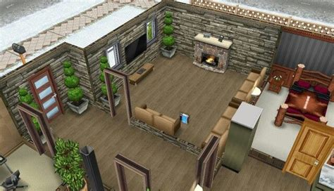 Sims House Ideas My Sims Freeplay Log Cabin Game Sims Pinterest Sims