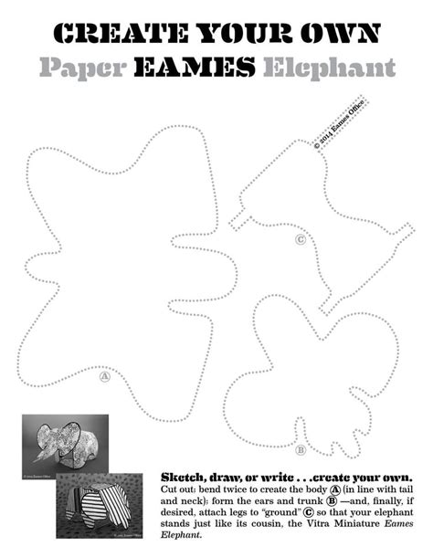 Eames Cards Templates by 1000 Ideas About Elephant Template On