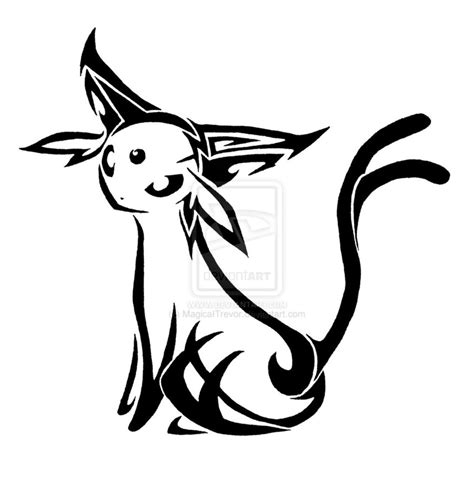 tribal tattoo pokemon tribal espeon by magicaitrevor on deviantart