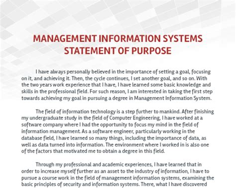 Mba Emohasis In Information Systems by I Want To Apply For An Ms In Management Information