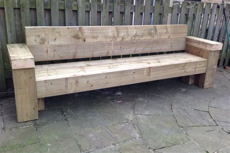 sleeper bench 9ft railway sleeper bench and garden seat