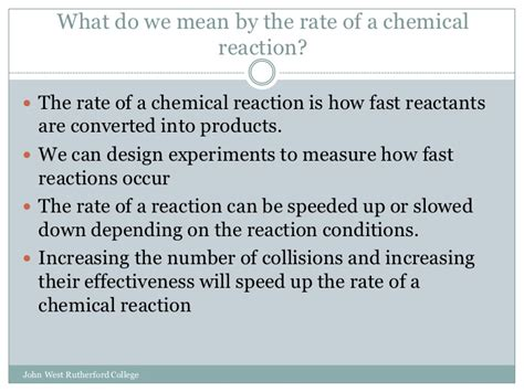 design experiment rate of reaction rates of reaction slideshare