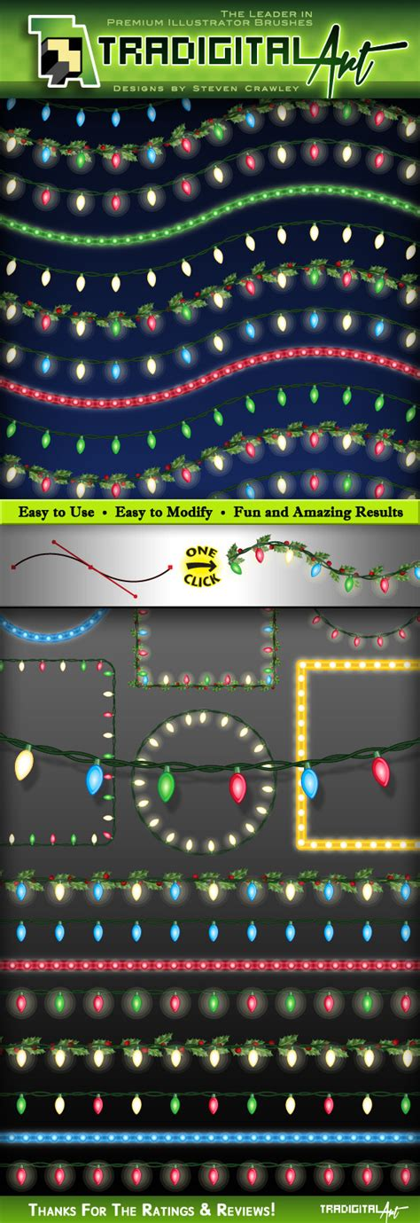 christmas lights brushes set 2 by tradigitalart graphicriver