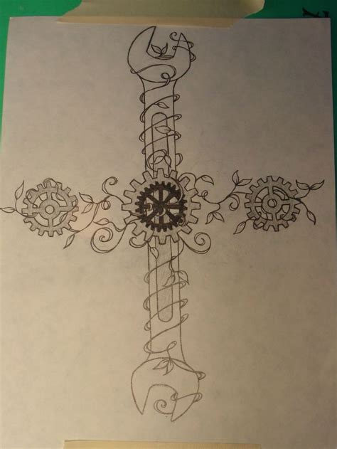 custom tattoos designs commissioned custom design wrenches gears and