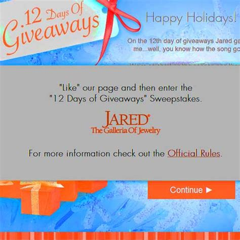 Jewelry Sweepstakes - win free jewelry jared 12 days of giveaways sweeps maniac
