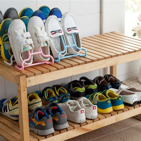 children s shoe storage shoes storage shelf platform shoes organizer 2 pcs lot
