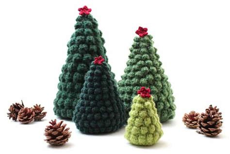 crocheted christmas tree ornaments look chic