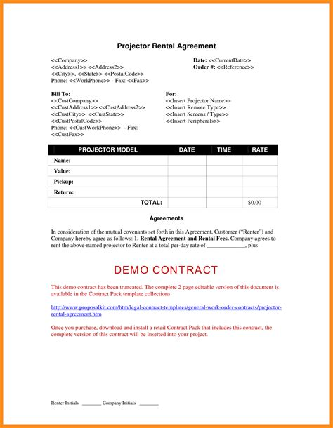 machine rental 13 equipment rental agreement form parts of resume