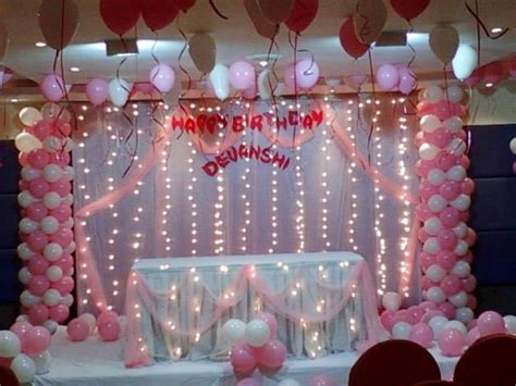 How To Decorate A Birthday At Home by Balloon Decoration Balloon Arches