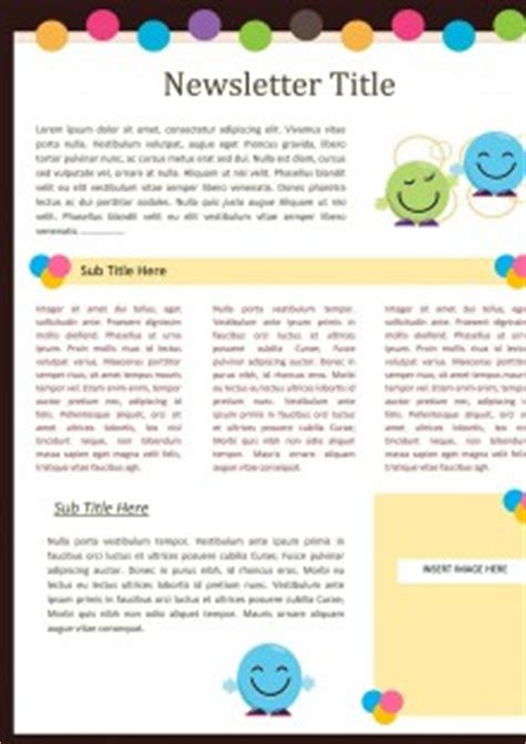 free printable school newsletter templates free printable newsletters newsletter templates email