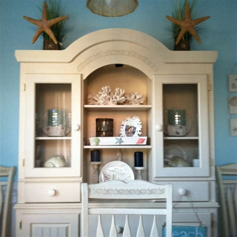 beach themed dining room this is our beach themed dining room hutch i found all of