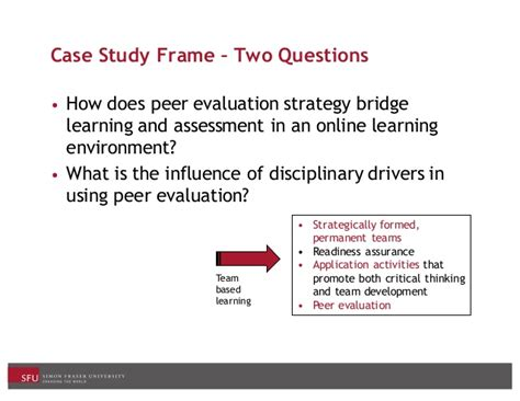 Xavier Mba Peer Assessment Score by Peer Evaluation As A Learning Assessment Strategy