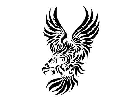 mexican eagle tribal tattoo desenhos de guias para tatoo tribal eagle with big claws