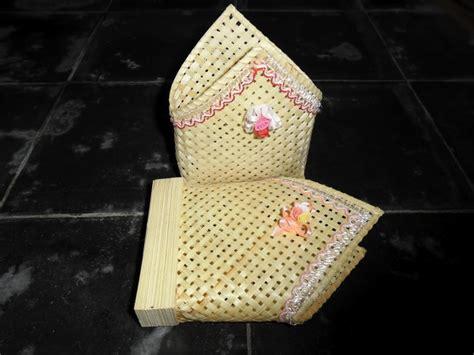 cara membuat kerajinan wadah tisu kerajinan ayaman bambu dengan cara membuatnya sarungpreneur