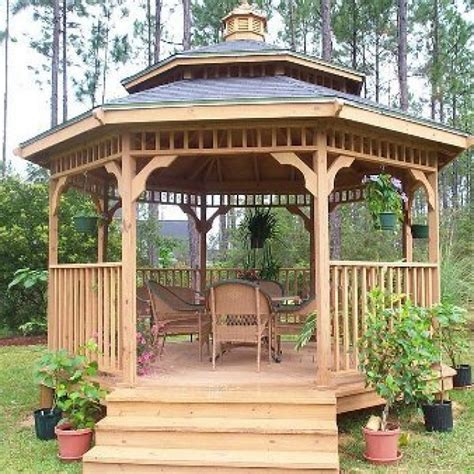 backyard gazebo designs teak wooden gazebo front yard landscaping ideas