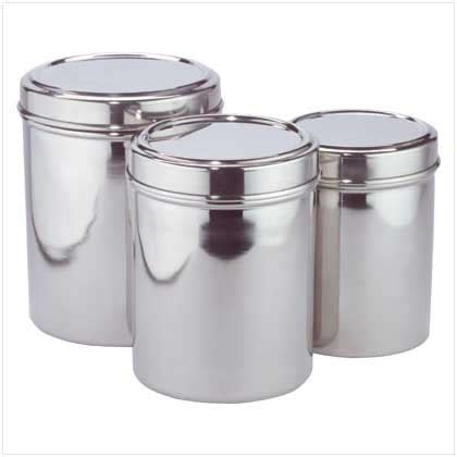 stainless steel kitchen canister sets stainless steel canister set