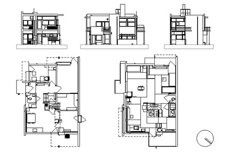 rietveld schroder house floor plans schroder house utrecht the netherlands 1924 1925 by