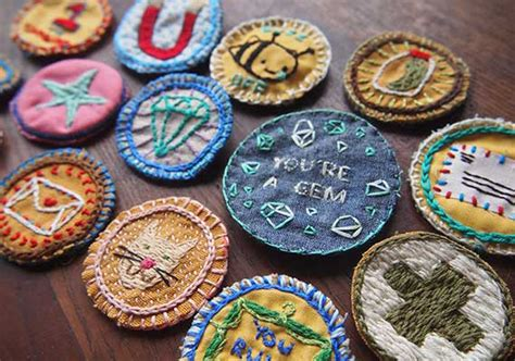 Handmade Embroidered Patches - make embroidered diy merit badges etsy journal