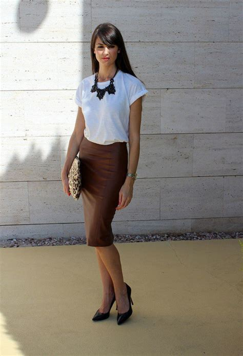 exclusively designs of leather pencil skirt