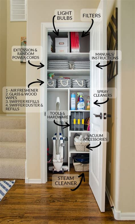 cleaning closet ideas from coat closet to cleaning closet organizing in style