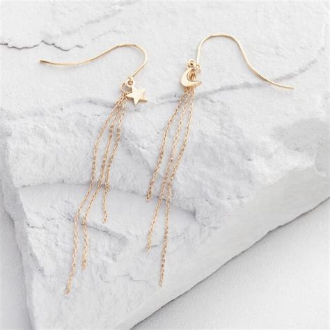 And Moon Drop Earrings gold and moon drop earrings world market