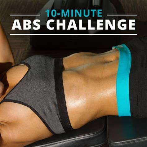 10 minute fitness challenge 100 ideas to try about ripped abs ab workouts