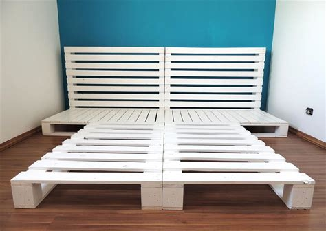 wood pallets for bed frame ideas for wooden pallet recycling pallet platform bed