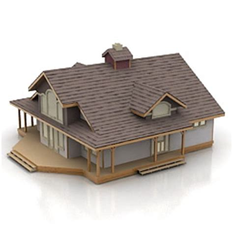 House 3d Model Free Download by Buildings And Houses 3d Models House N200111 3d Model