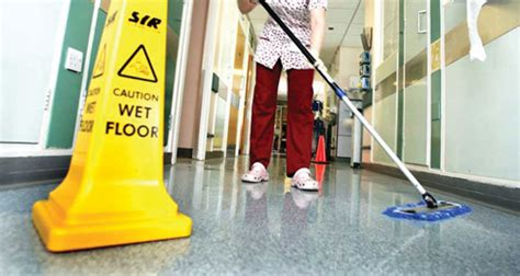 Disinfecting Hospital Floors - proper cleaning and disinfection to arrive at hospital