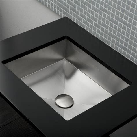 stainless toilet sink lacava 7400 12 argento self rimming or under counter