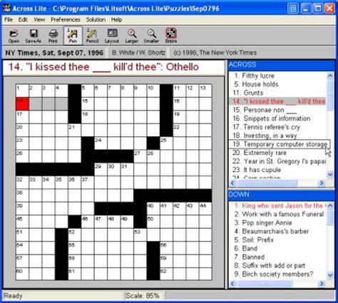 easy crossword puzzles across lite across lite free crossword puzzle software